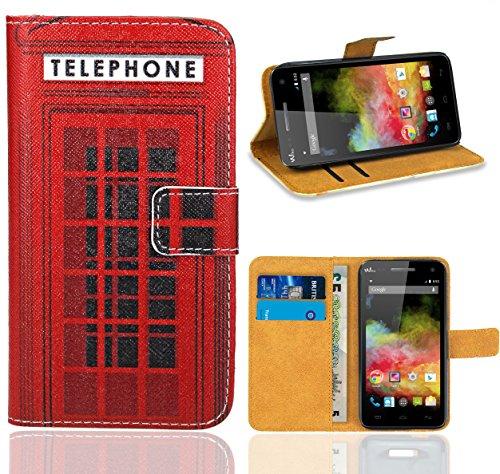 FoneExpert® Wiko Rainbow 3G / 4G Handy Tasche, Wallet Hülle Flip Cover Hüllen Etui Ledertasche Lederhülle Premium Schutzhülle für Wiko Rainbow 3G / 4G
