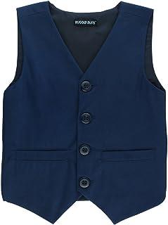 RuggedButts Infant/Toddler Boys Navy Blue Chino Vest
