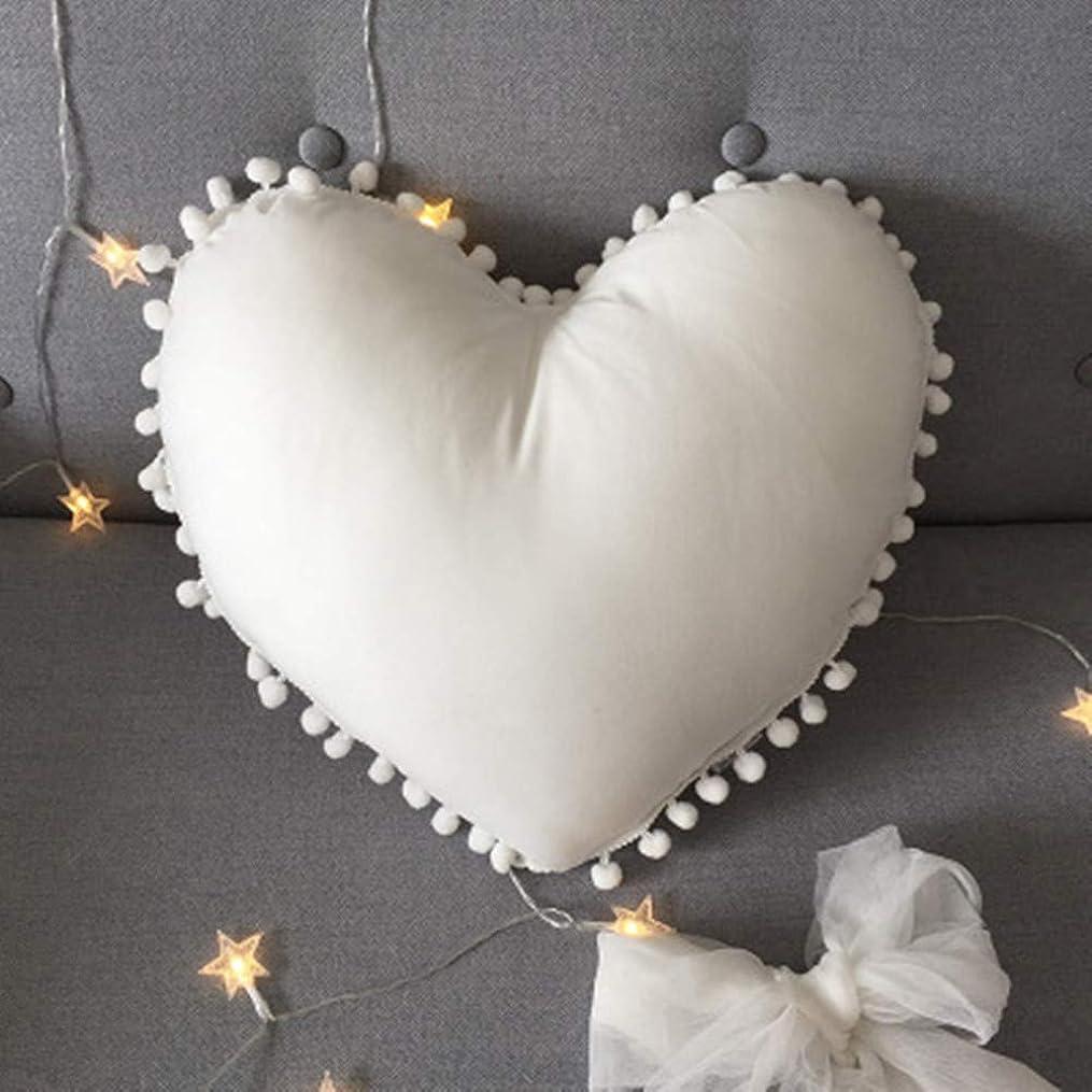適応的できればヘクタール桜の雪 プリンセス風 ハート型 抱き枕 とりはなす可能 洗える 昼寝枕 クッション 飾り物 プレゼント (ホワイト)