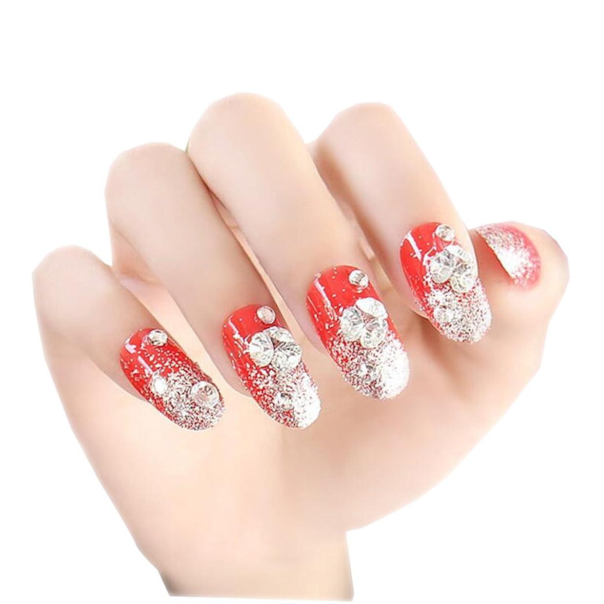 24 PCSシャイニー?ウェディング?ブライドFalse Nails Art Nailsステッカー