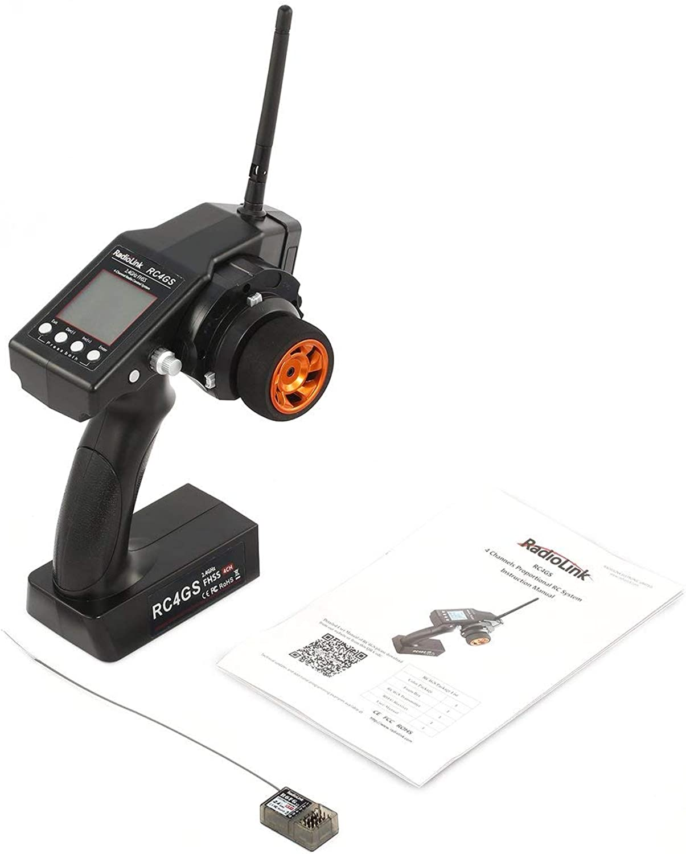 Noradtjcca RadioLink RC4GS 2.4G 4CH 400M Distanz Fernbedienung Sender + R6Fg Gyro Inside Empfnger für RC Auto Stiefel