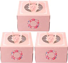 TOYANDONA 3pcs Kraft Cupcake Boxes with Inserts Display Windows Boxes Bakery Boxes Muffins or Pastries Containers Dessert ...