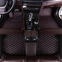 MyGone for Acura RL 2006-2010 Custom Car Floor Mats All Weather Protection Front Contour Liners and 2 Row Liner Set Waterproof Non-Slip Black with Red
