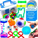 Franco and Friends Sensory Toys for Autistic Children, Teens, Adults with ADD, OCD, SPD 16 Pcs Top Quality Autism Toys. Includes 2 Autism Awareness Car Decals. Perfect for Classroom/Home Rewards