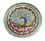 Karwa Chauth/Karva Chauth - Piatto Decorativo Speciale Puja/Pooja Thali con Bellissimo Mot...