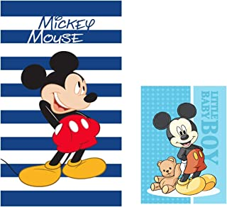 Various Toalla de Playa Infantil con Licencia Oficial Disney Mickey