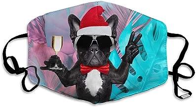 Unisex Fashion Mask Santa Claus Champagne Cup for French Bulldog Dust Allergy Influenza Mask Ski Bike Half Mask