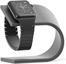 PUGO TOP Stand Compatible for Apple Watch Series 4 Series 3 Series 2 Series 1, Charging Dock (Space Grey)