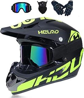 <h2>MRDEER Motocross Helm, Adult Off Road Helm mit Handschuhe Maske Brille, Unisex Motorradhelm Cross Helme Schutzhelm ATV Helm für Männer Damen Sicherheit Schutz, 5 Stile Verfügbar</h2>