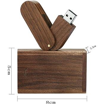 Garrulax Memoria USB, Pendive USB 2.0, Premium Madera Maciza Rotación 8GB / 16GB / 32GB Alta Velocidad Memorias Pen Drive con Caja de Madera: Amazon.es: Electrónica