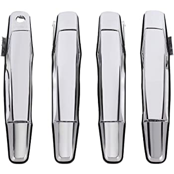 Amazon Com Black Outside Exterior Door Handle Set Of 4 Kit For Chevy Gmc Pickup Truck Suv Automotive