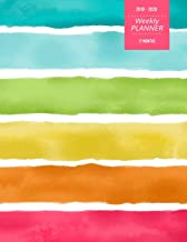 2019 - 2020 | Weekly Planner | 17 Months: August 2019 - December 2020 | Includes 30 pages of Dot Grid Pages for Notes | Bright Rainbow Simple Weekly ... and Students, Teachers and Writers