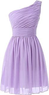 Kiss Dress Women's Short Bridesmaid Dresses One Shoulder Chiffon Prom Gowns