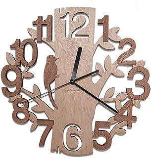 Tree Shaped Wall Clock Wood Decorations Housewarming Clocks Wood Color