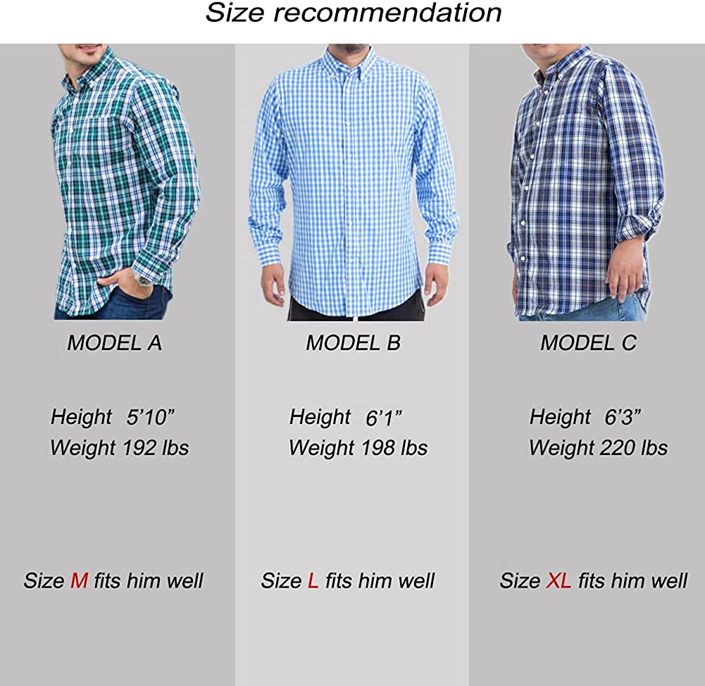 100% Cotton Regular Fit/Classic Fit Mens Long Sleeve and Short Sleeve Shirts Button Down Shirts for Men