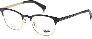Ray-Ban Men's 0rx6317 No Polarization Round Prescription Eyewear Frame Top Black on Matte Gold 51 mm