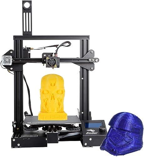 Robocraze Creality 3D Ender-3 Pro 3D Printer DIY Kit MK-10 Extruder with Resume Printing Function Heatbed Support 220...