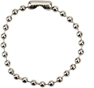 JETEHO 200Pcs Ball Chains Bead Connector Clasp Bead Chain for Keychain Tag Key Rings Dog Tag, 4