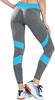 Beiziml Fashion Patchwork Yoga Pants Women Running Workout Sport Legging Heart Print Polyester Fitness Ankle Length Pants ...