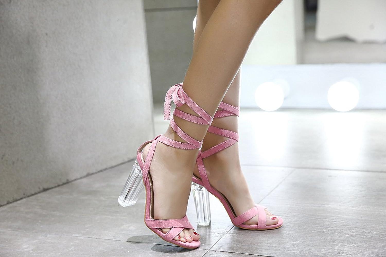 Ladies high Heeled Sandals, Simple Foot Rings Transparent Big and Big Yards.