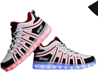 Super bang Kids Boys' Hypno-Flash-Tremblers Light Up Shoes Fashion Christmas Breathable Sneakers