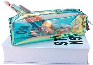 Leepesx Fresh Style Pen Case Makeup Storage Bag Colorful Transparent Pencil Bag Student Aniseed Pencil Bag Tassels Zipper ...