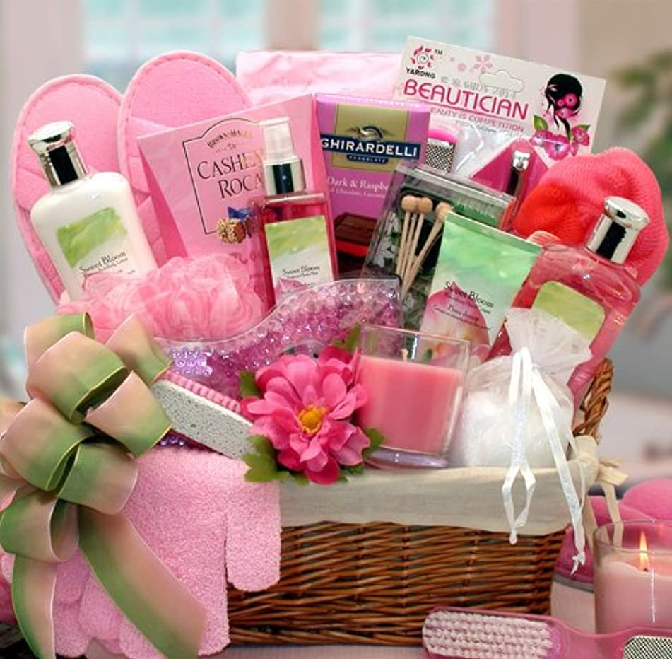 Spring Blooms Spa Gift Basket - Makes a Great Mothers Day Gift or Any Occasion Gift