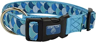 "Hamilton FAL RO P56 Fashion Adjustable Dog Collar, 1"" x 18-26"", Fish Scale"