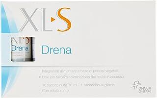 XL-S Medical Drena Integratore Alimentare per Donne che Elimina i Liquidi in Eccesso, 10 Flaconcini