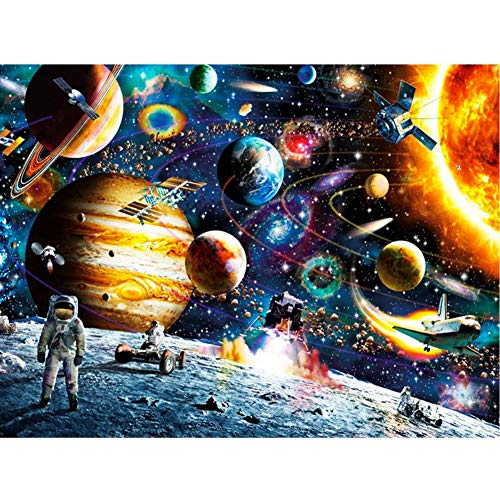 DIY 5D Diamond Painting Kits for Adults Kids Space Full Drill Round Diamond Gem Art Beads Painting for Kids Perfect for Home Wall Decor(Canvas Size:16x20inch/40x50cm)