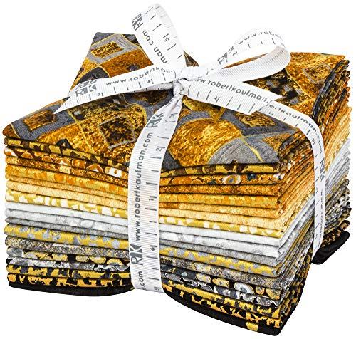 Gustav Klimt Neutral 18 Fat Quarters Robert Kaufman Fabrics FQ-1635-18