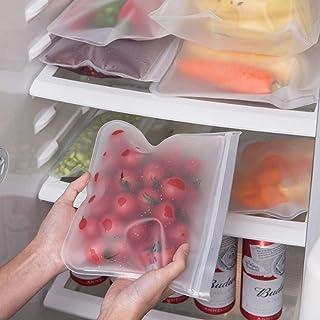 FSHB 3 pcs Cuisine Réfrigérateur De Stockage Frais De Conservation Sac Clair Sac De Rangement Scellé Alimentaire Sac De Co...