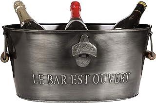 大きい金属のアイスシャンペンのびんは栓抜きが付いているより涼しいバケツのたらいを飲みます