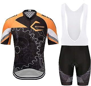 SUN HUIJIE Ciclismo Conjunto de Jersey Bicicletas de Secado rápido Conjunto de Deportes Transpirables Ciclismo de Ruta Mangas Cortas Ropa de Cierre Completo