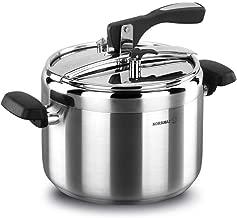 korkmaz Turbo Stainless Steel Pressure Cooker Silver, Manual Slow Cooker, Rice Cooker, Steamer, Saute, Yogurt Maker and Warmer A156 (7 Quart)
