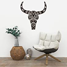 Bull Skull Henna Pattern Beautiful Wall Decal Vinyl Home Decoration - 25