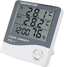 Higrómetro Digital, termómetro de Humedad Relativa del 10% ~ 99%, -10 ℃ ~ + 50 ℃ para Oficina en casa