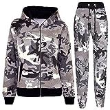 A2Z 4 Kids®Enfants Survêtement Garçons Filles Designer Camouflage Imprimé - T.S A2Z Camo Charcoal 9-10