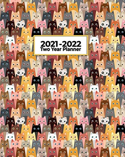 2021-2022 Two Year Planner: Crazy Cat Collection | Perfect...