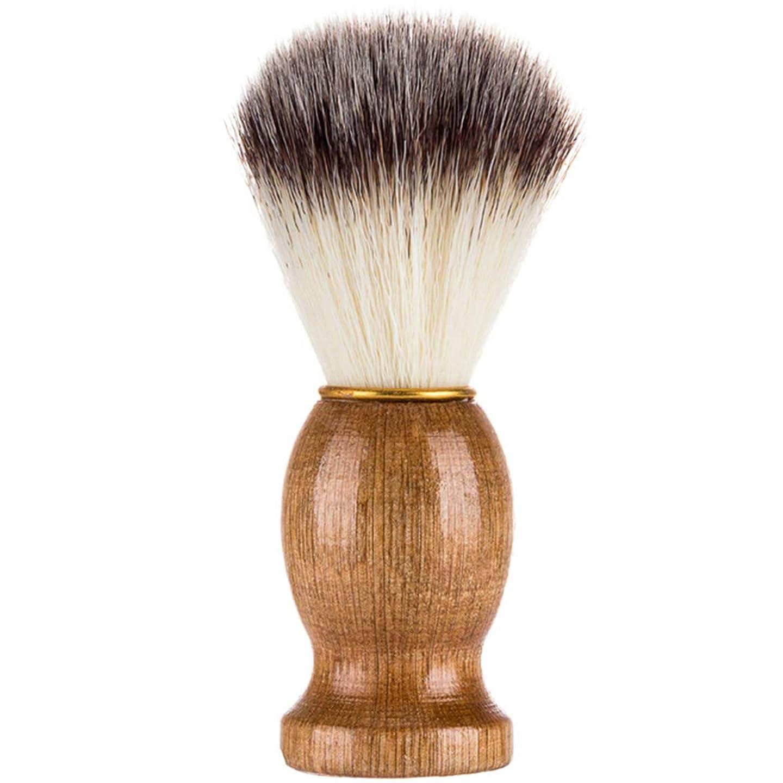 企業共和国敬Tenflyer シェービングブラシ、シェービングブラシ、男性シェービングブラシシェービングかみそりブラシサロン理髪店用ツールひげ剃り用品