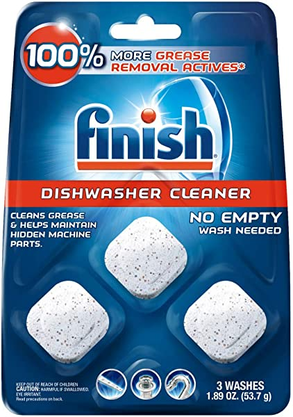Finish In Wash Dishwasher Cleaner Clean Hidden Grease Grime 3ct