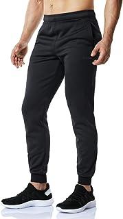 TSLA Fleece Tapered Pants Training Active Jogger Thermal Sweat Bottom