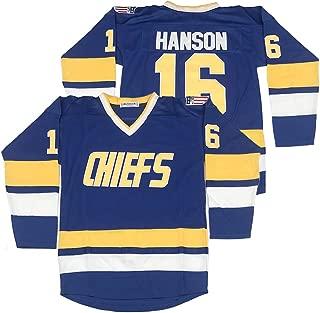 Horlohawk 16 Jack Hanson 17 Steve Hanson 18 Jeff Hanson Brothers Slap Shot Movie Charlestown Chiefs Hockey Jersey Stitched