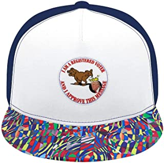 Shao Do Anti Trump I Approve This Message Floral Print Baseball Cap Adjustable 100% Cotton Canvas Dad Hat Hats for Women
