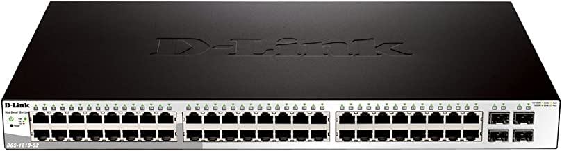 D-Link Systems 52-Port Gigabit Web Smart Switch including 4 Gigabit SFP Ports (DGS-1210-52)