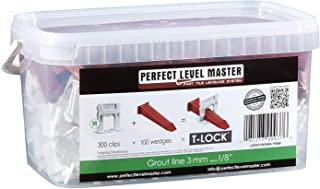 "1/8"" T-Lock Complete KIT Anti lippage Tile leveling system by PERFECT LEVEL MASTER.."