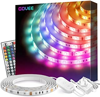 Govee LED Strip Lights 5m Waterproof Color Changing Light Strips with Remote, Bright 5050 and Multicolor RGB LED Lights fo...