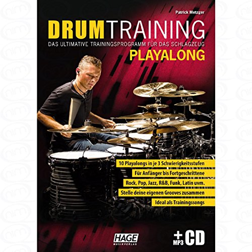Drum training playalong - arrangiert für Schlagzeug [Noten/Sheetmusic] Komponist : Metzger Patrick