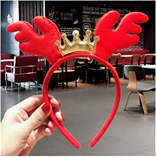 QQRS- Christmas decorations adult children dress up toys Christmas headband Halloween antlers headband head buckle hair accessories (Style : 9#)