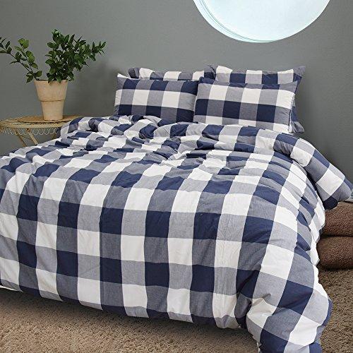 Merryfeel 100% Cotton Yarn Dyed Duvet Cover Set - 135x200+80x80cm